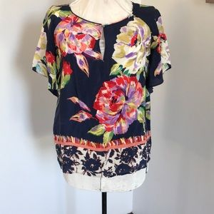 Anthropology Maeve floral blouse